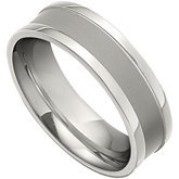 Recessed Titanium Band