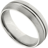 7.0mm Domed Titanium Band