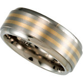 8.0mm Titanium Band with 14kt Yellow Inlay