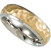 7.0mm Titanium Band with Gold Immerse Plating