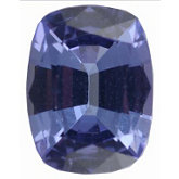 Genuine Tanzanite - Antique Cushion Faceted; AA Quality