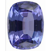 Genuine Tanzanite - Antique Cushion Faceted; AAA Quality