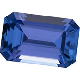 Genuine Tanzanite - Emerald/Octagon Faceted -Non-Returnable; Gem Quality