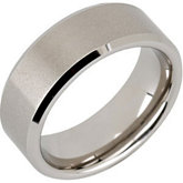 8.3mm Dura Tungsten® Beveled Band with Satin Center