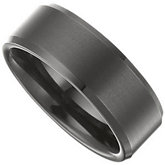 8.3mm Dura Tungsten® Black Immerse Plated Band with Satin Center