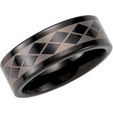 8.3mm Dura Tungsten® Band with Black Immersion Plated Laser Design