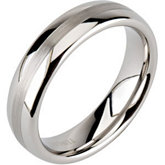 6.3mm Dura Tungsten® Domed Band with Satin Center