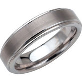 Dura Tungsten® Ridged Band with Satin Center