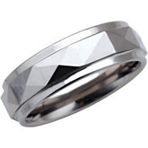7.3mm Dura Tungsten® Faceted Band with Ridge