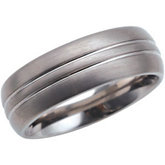 8.3mm Dura Tungsten® Satin Grooved Domed Band