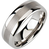 8.3mm Dura Tungsten® Domed Band with Satin Center