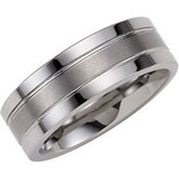 8.3mm Dura Tungsten® Flat Ridged Band