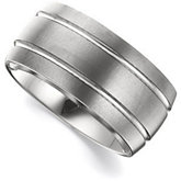 10mm Dura Tungsten® Grooved Satin Slight Domed Band