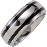 Dura Tungsten® Band with Black Enamel