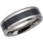 8.3mm Dura Tungsten® Beveled Band with Black Carbon Fiber Center
