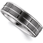 7.3mm Dura Tungsten® Band with Black Ceramic Couture™ Inlay