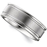8.3mm Dura Tungsten® Grooved Band with Satin Center