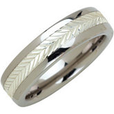6.3mm Dura Tungsten® Swiss Cut Sterling Silver Inlay Band
