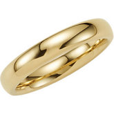 Dura Tungsten® Gold Immersion Plated Domed Band