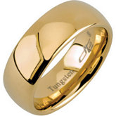8.3mm Dura Tungsten® Gold Immersion Plated Domed Band