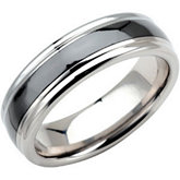 Dura Tungsten® Band with Ceramic Couture™  Inlay