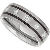 Dura Tungsten® Diamond Dome Band