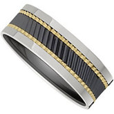 Dura Tungsten® & Ceramic Couture™ Band with Gold Immerse Plating