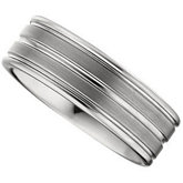 8.3mm Dura Tungsten® Grooved Satin Band
