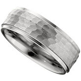 Dura Tungsten® Ridged Band with Bark Finish