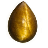 Genuine Tigereye - Pear Shape Cab; Brown