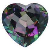 Heart Genuine Green Mystic Topaz