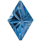 Lozenge Fantasy Genuine Swiss Blue Topaz