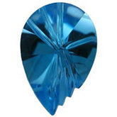 Shell Fantasy Genuine Swiss Blue Topaz