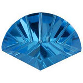 Fan Genuine Swiss Blue Topaz