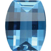Barrel Genuine Swiss Blue Topaz