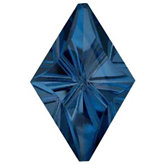 Lozenge Fantasy Genuine London Blue Topaz