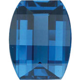 Barrel Genuine London Blue Topaz