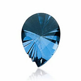 Shell Fantasy Genuine London Blue Topaz