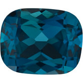 Antique Cushion Genuine London Blue Topaz