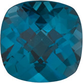 Antique Square Genuine London Blue Topaz