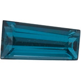 Tapered Baguette Genuine London Blue Topaz