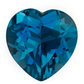 Heart Genuine London Blue Topaz