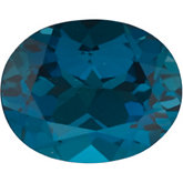Oval Genuine London Blue Topaz