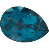 Pear Genuine London Blue Topaz