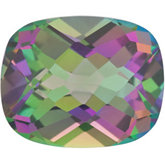 Antique Cushion Genuine Green Mystic Topaz