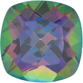 Antique Square Genuine Green Mystic Topaz
