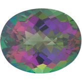 Oval Genuine Green Mystic Topaz