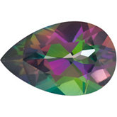 Pear Genuine Green Mystic Topaz