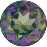 Round Genuine Green Mystic Topaz