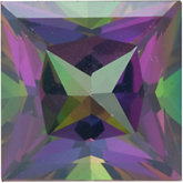 Square Genuine Green Mystic Topaz
